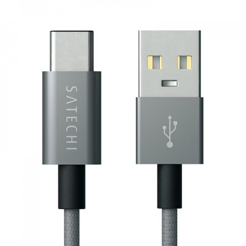 Кабель Satechi Aluminum Type-C USB 3.1 to Standard Type-A USB 2.0, Space Gray (91 см)