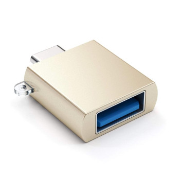Адаптер Satechi Aluminum Type-C to USB 3.0 Adapter, Gold