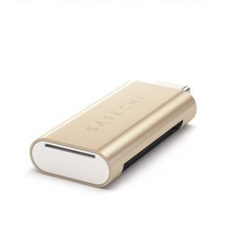 Картридер Satechi Aluminum Type-C Micro/SD Card Reader, Gold