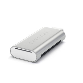 Картридер Satechi Aluminum Type-C Micro/SD Card Reader, Silver
