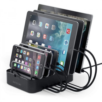 Док-станция Satechi 6-Port Customizable Media Organizer Desktop Charging Station, черный