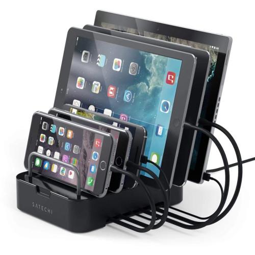 Док-станция Satechi 6-Port Customizable Media Organizer Desktop Charging Station, черный