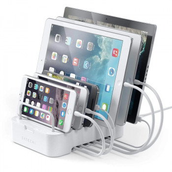Док-станция Satechi 6-Port Customizable Media Organizer Desktop Charging Station, белый