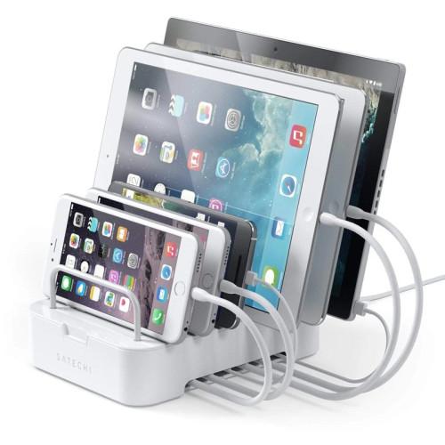 Док-станция Satechi 6-Port Customizable Media Organizer Desktop Charging Station, белый