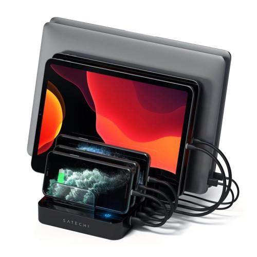 Док-станция Satechi 7-Port USB Charging Station with 2 Type-C Ports, черный