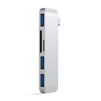 Хаб Satechi Type-C USB 3.0 3-in-1 Combo Hub, Silver