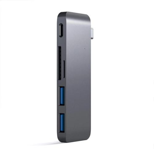 Хаб Satechi Type-C Pass-Through USB Hub with USB-C Charging Port, Space Gray