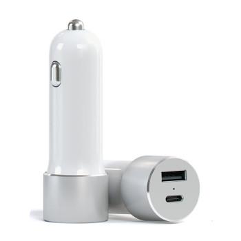 Автомобильное зарядное устройство Satechi USB-C Car Charger, Silver (ST-TCUCCS)