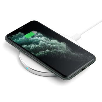 Беспроводное зарядное устройство Satechi Aluminum Wireless Charger, Silver