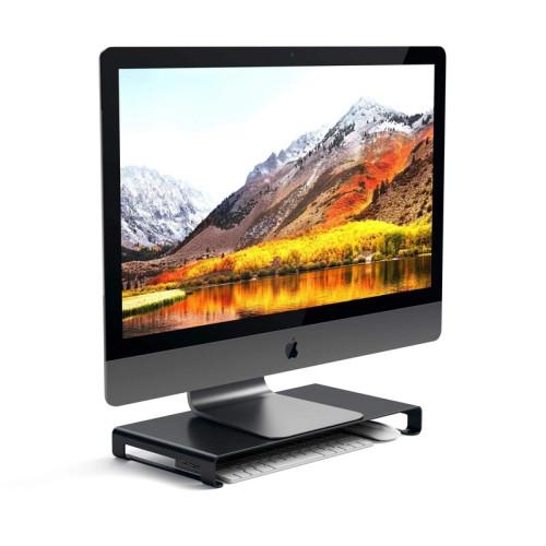 Satechi Aluminum Monitor Stand, Black Matte