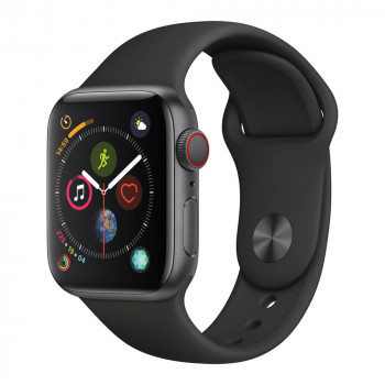 Умные часы Apple Watch Series 5 40mm GPS+LTE Space Gray Aluminum Case with Black Sport Band (MWWQ2)