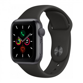 Умные часы Apple Watch Series 5 40mm GPS Space Gray Aluminum Case with Black Sport Band (MWV82)
