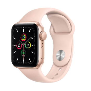 Часы Apple Watch SE 40mm Gold Aluminum Case with Rose Gold Sport Band