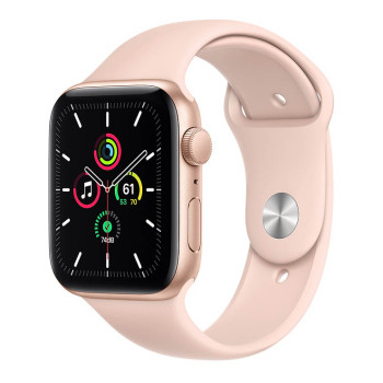 Часы Apple Watch SE 44mm Gold Aluminum Case with Rose Gold Sport Band
