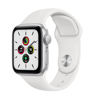 Часы Apple Watch SE 40mm Silver Aluminum Case with White Sport Band