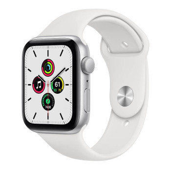 Часы Apple Watch SE 44mm Silver Aluminum Case with White Sport Band