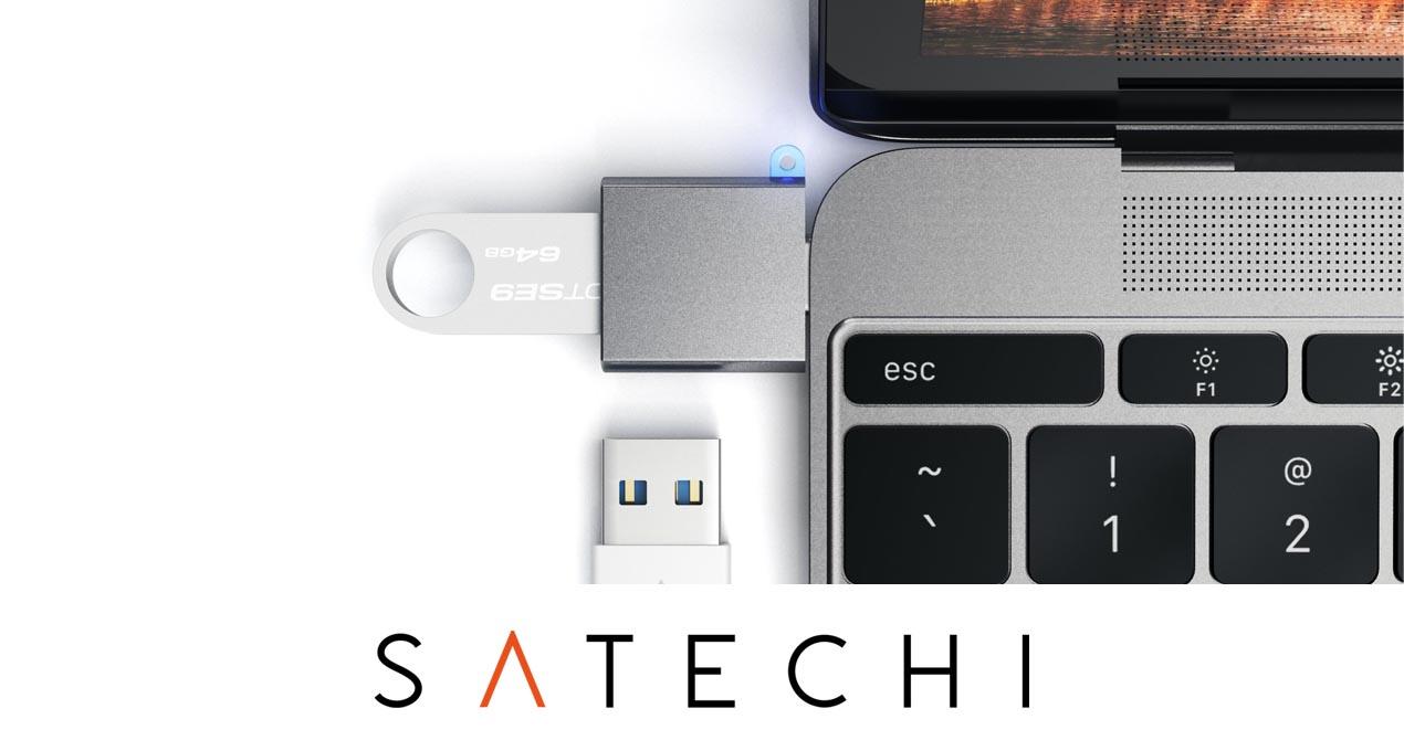 Satechi Aluminum Type-C to USB 3.0 2